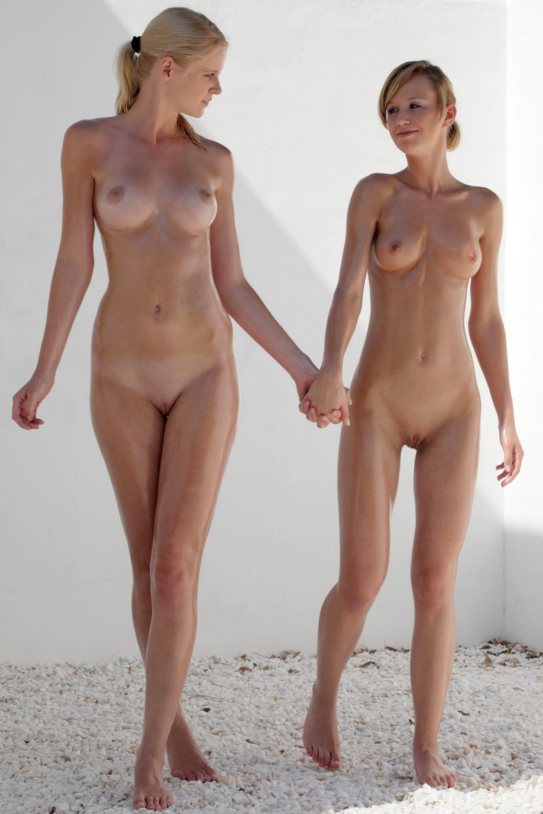 2 skinny naked russian sweethearts #7