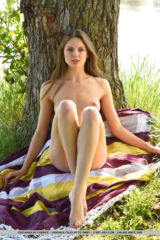 metart bunny cheyanna getting naked in the garden #8