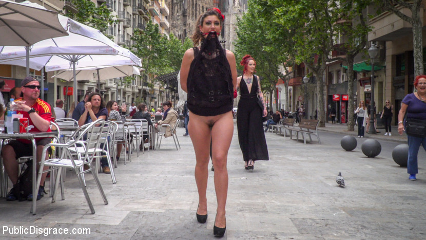 pretty spanish bitch  abused in a madrid hipster bar #6