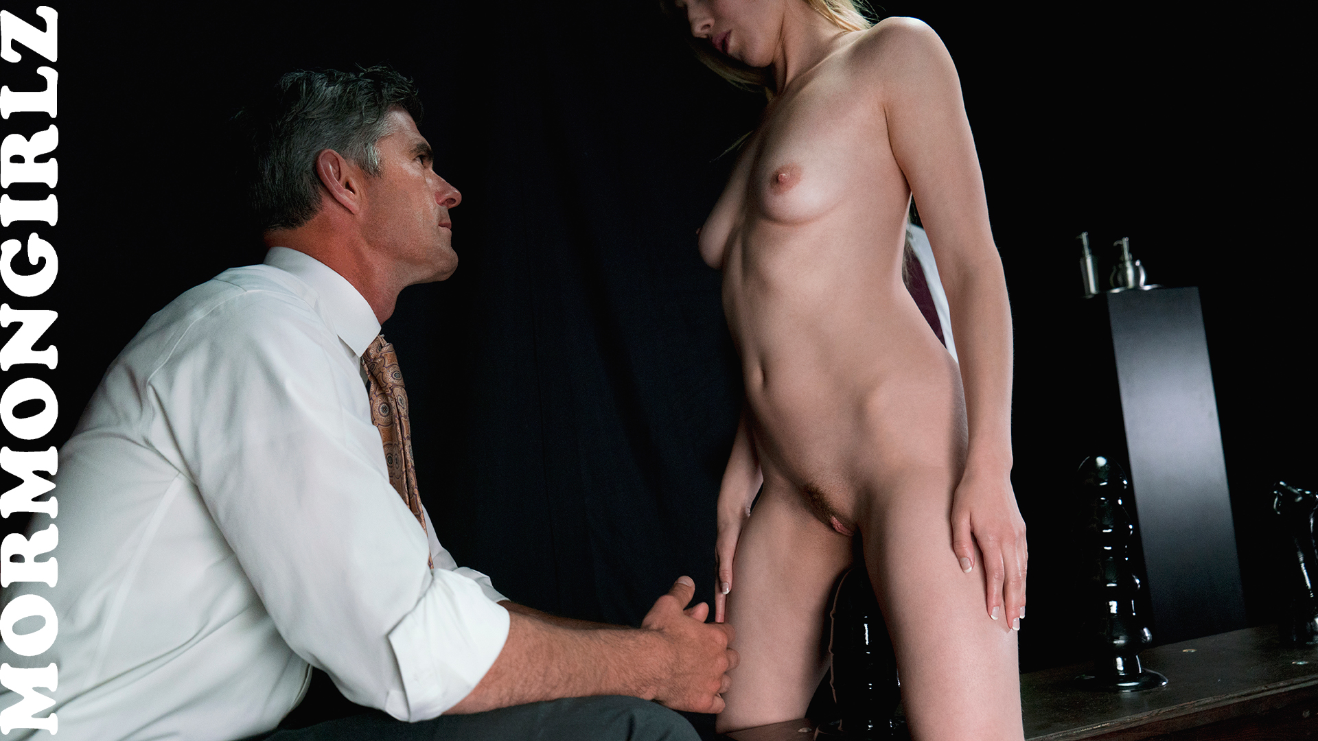 submissive Mormon Sister Jane experiencing a session with Father Joe #3