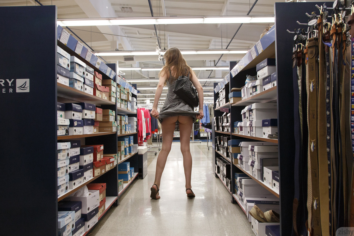 sexy nerdy girl going shopping without panties from zishy – new gallery