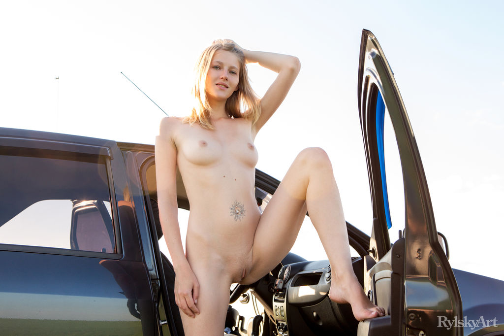 tiny blonde loves to do it in fast cars #6