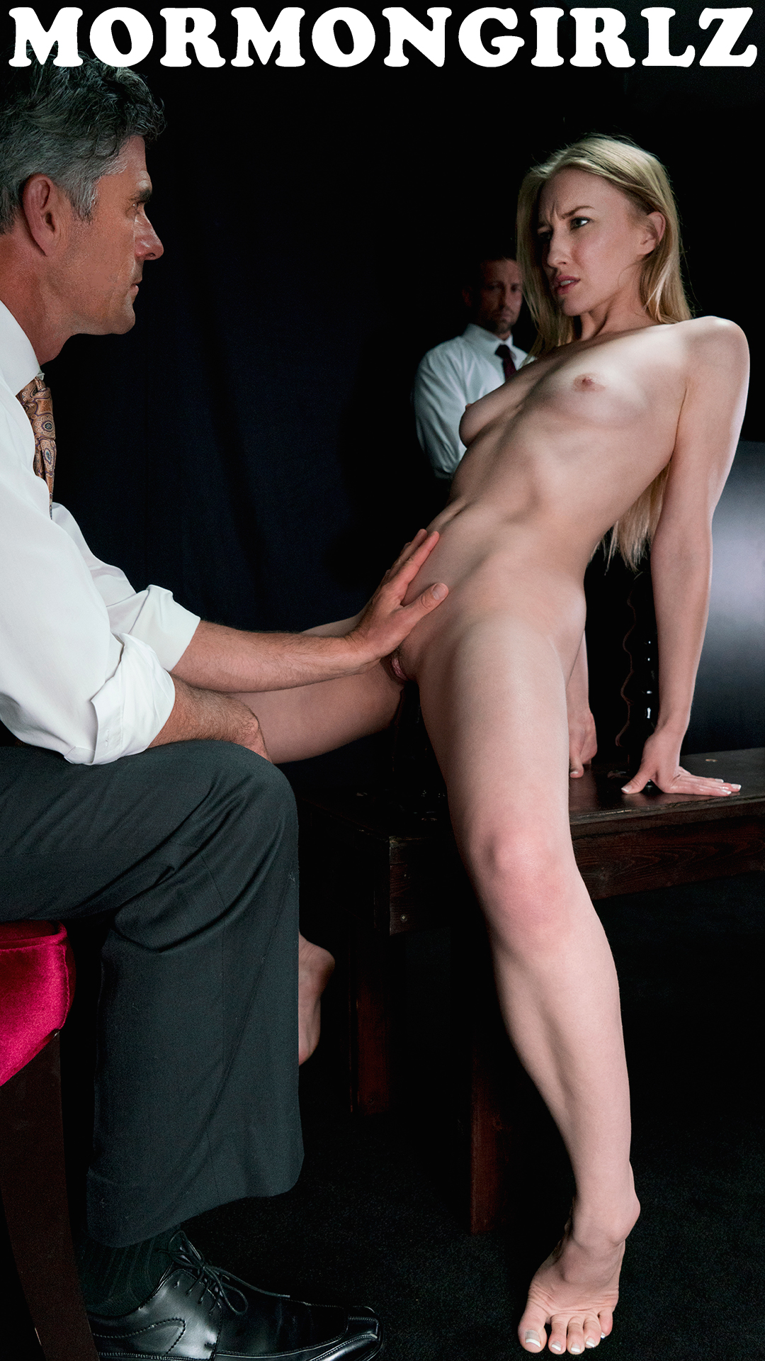 submissive Mormon Sister Jane experiencing a session with Father Joe #1