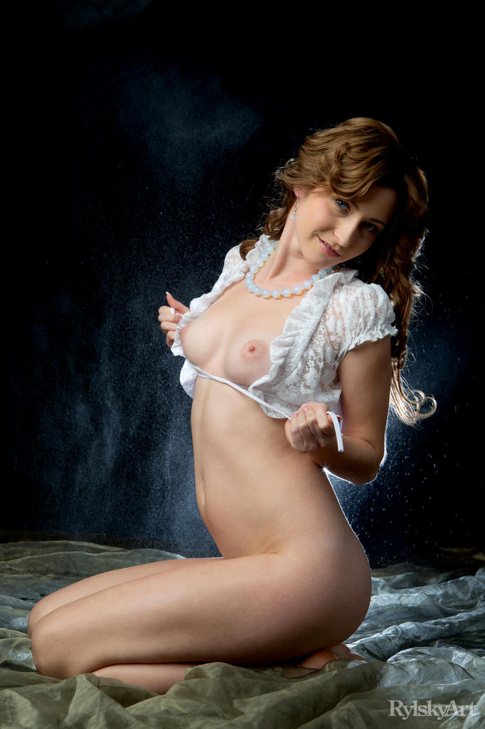 young russian model with beautiful labia posing in front of photoshop bluescreen #8