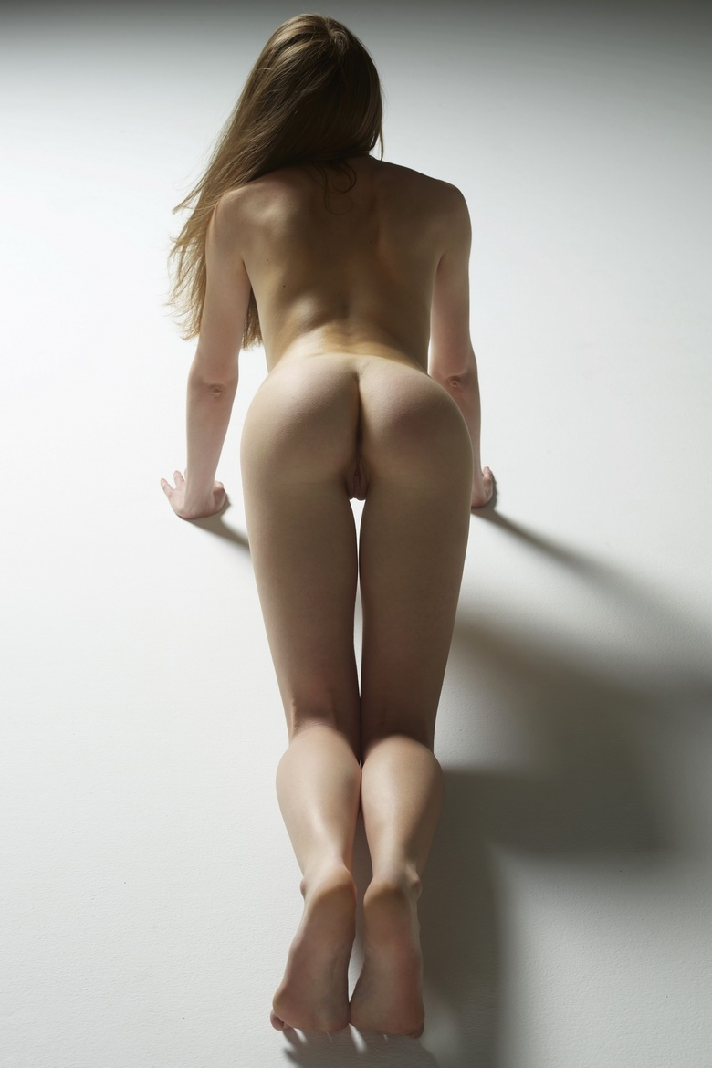 tiny girl with tiny butt naked handstand #3