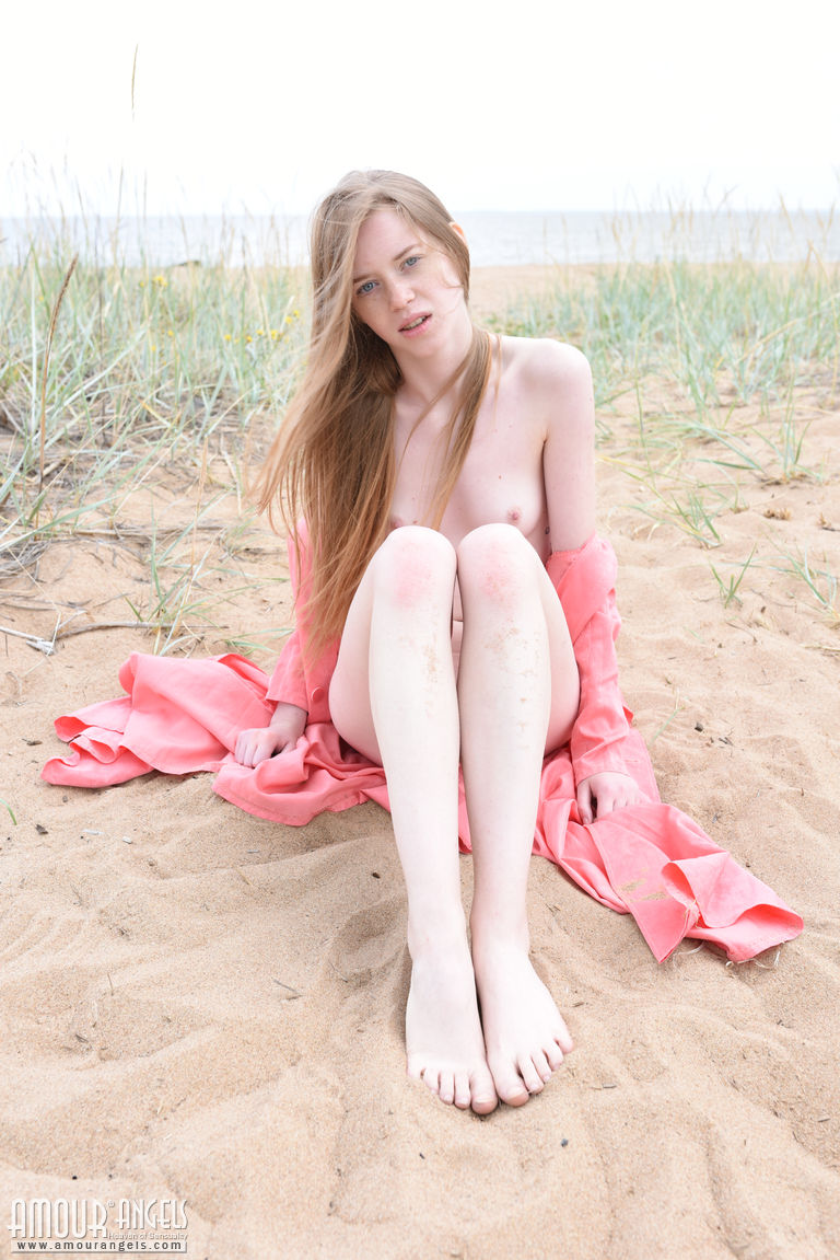 long haired russian single hanging arround naked at the shore #10