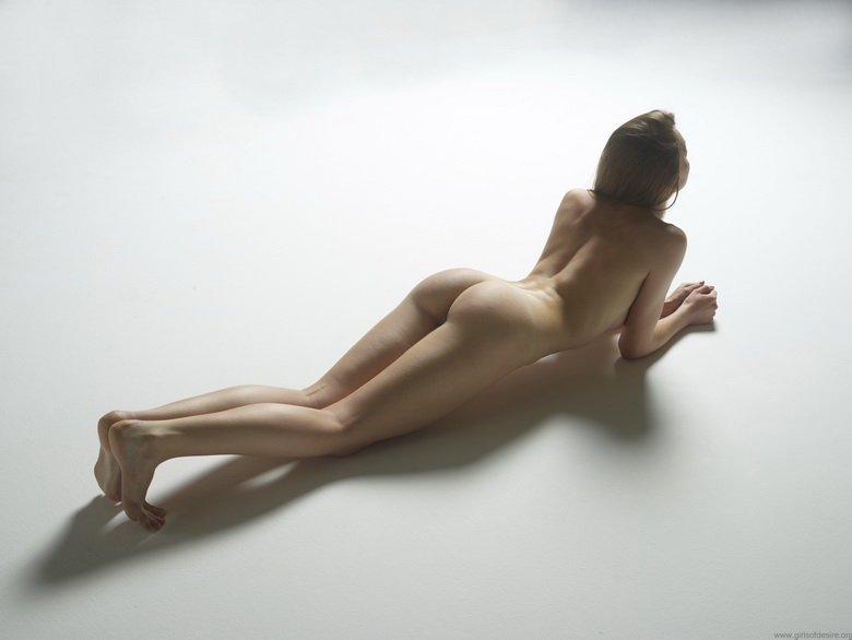 tiny girl with tiny butt naked handstand #8