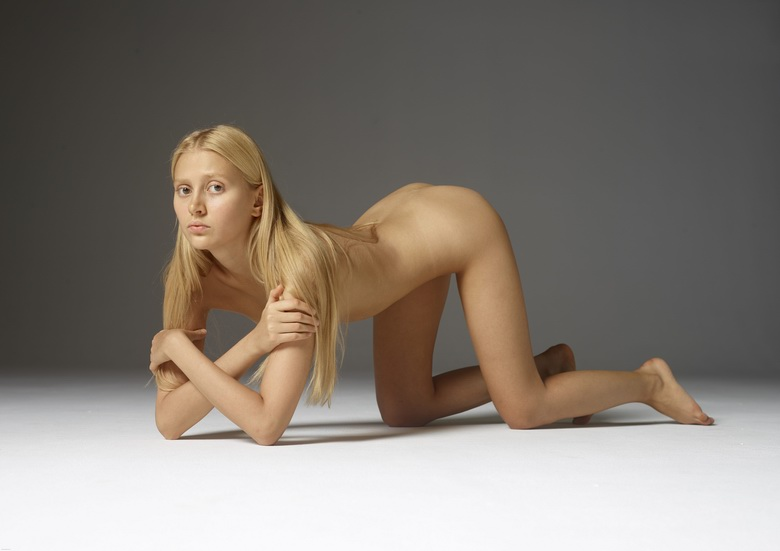 petite blonde stretching her tiny ass #12