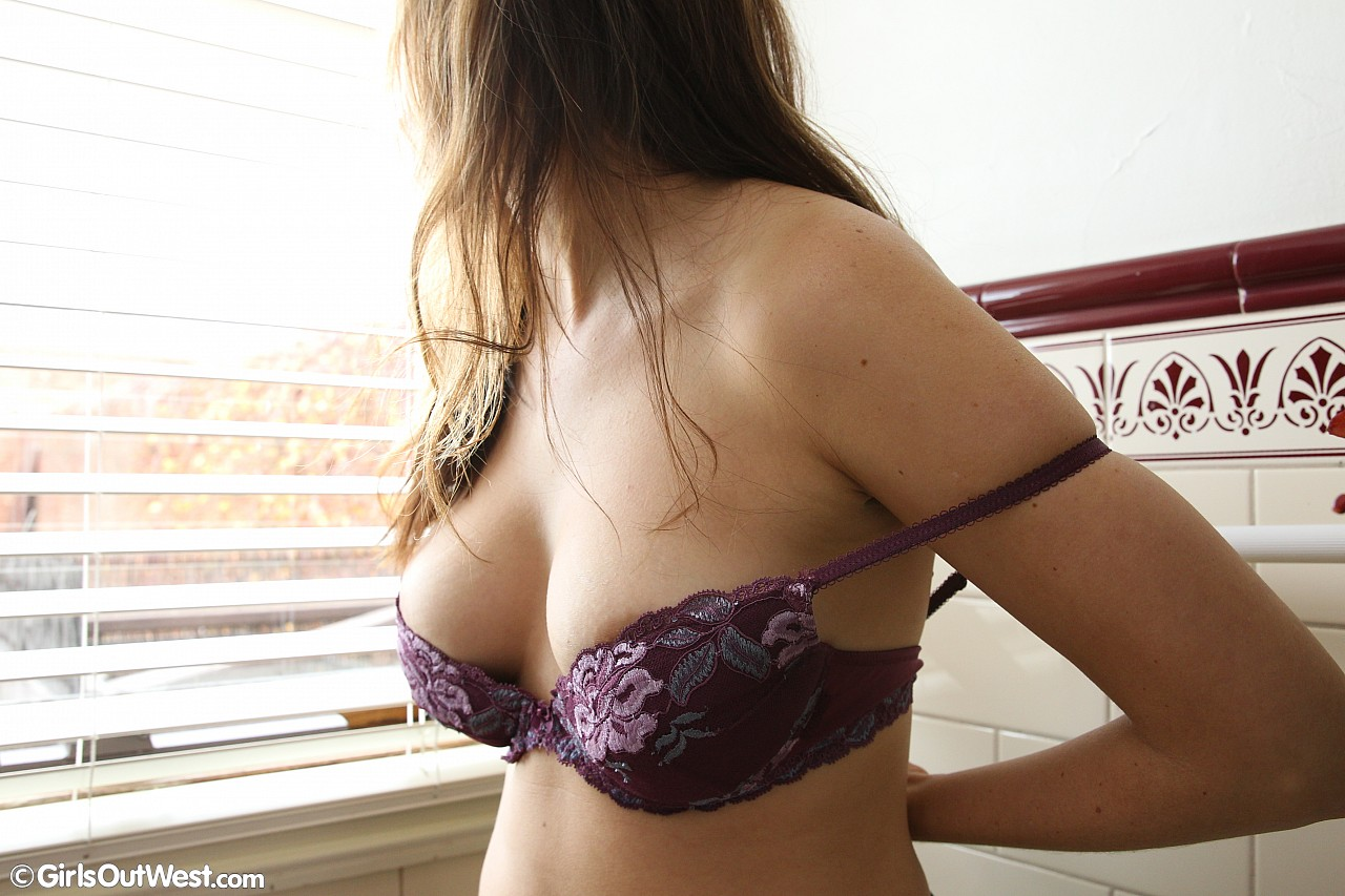 busty australian girl flaunting her naked body in the kittchen #1