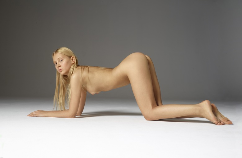 petite blonde stretching her tiny ass #2