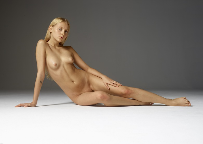 petite blonde stretching her tiny ass #10