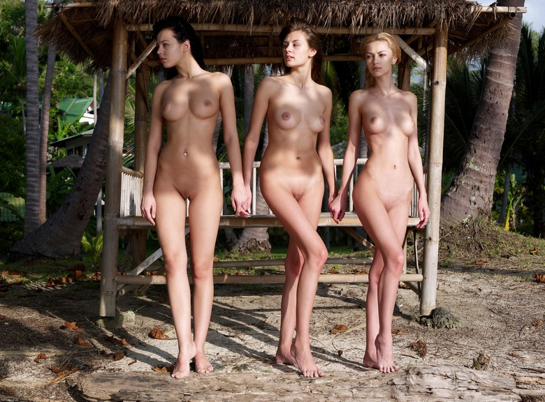 3 hot skinny chicks in the jungle – hegre art gallery update #6