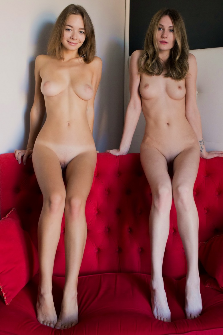 Big sister and her schoolmate flaunting naked on my couch from yonitale #8