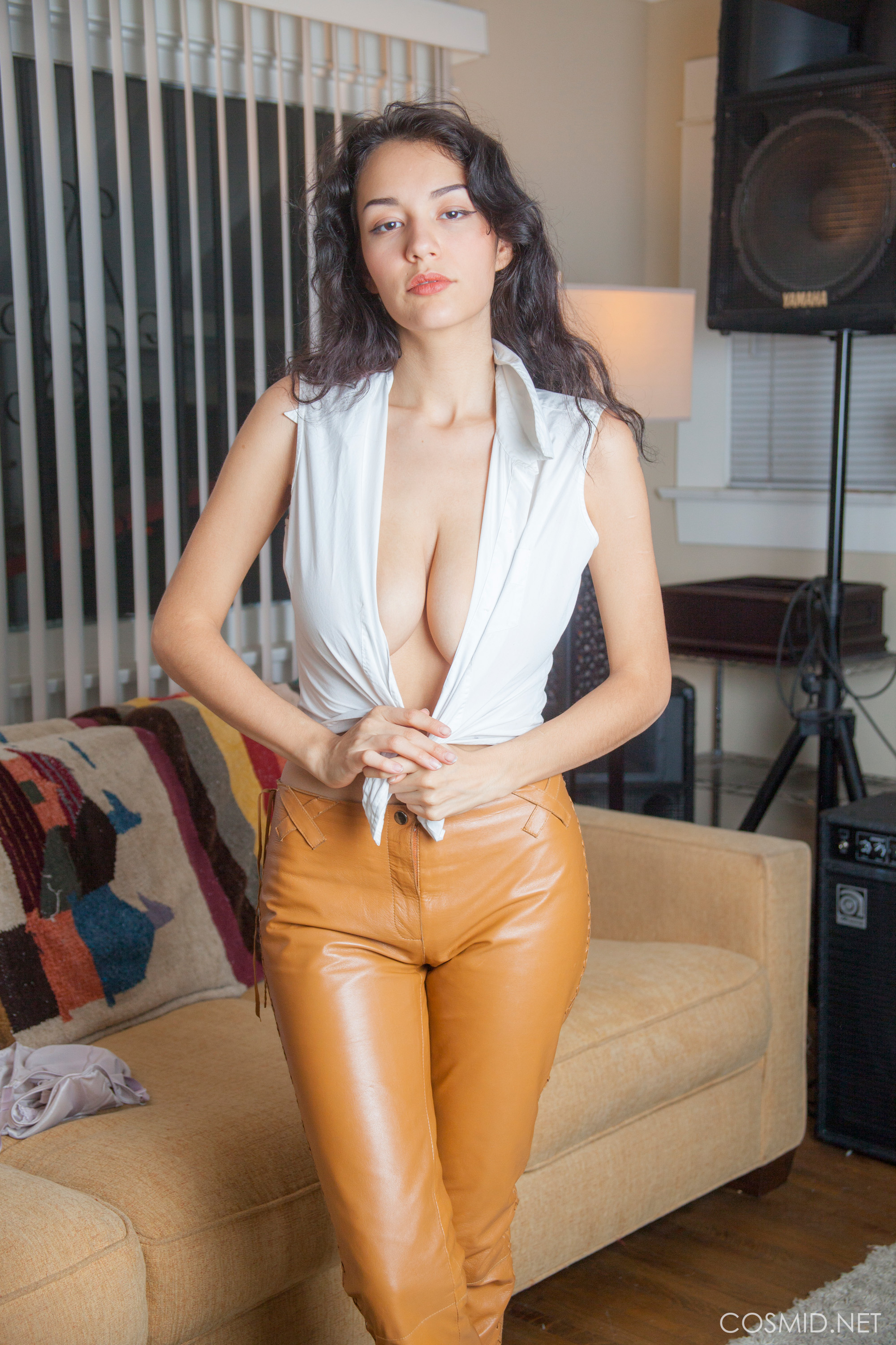 new cosmid model in wonderful leather trousers modelling her marvelous tits #10