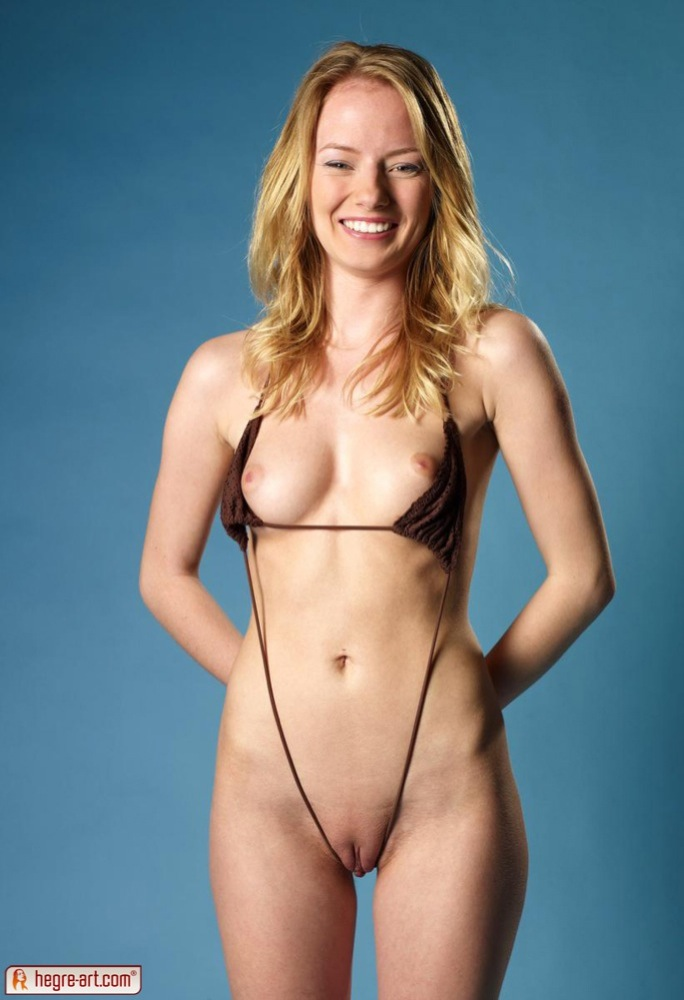 Hegre-art cutie in micro bikini going naked #7
