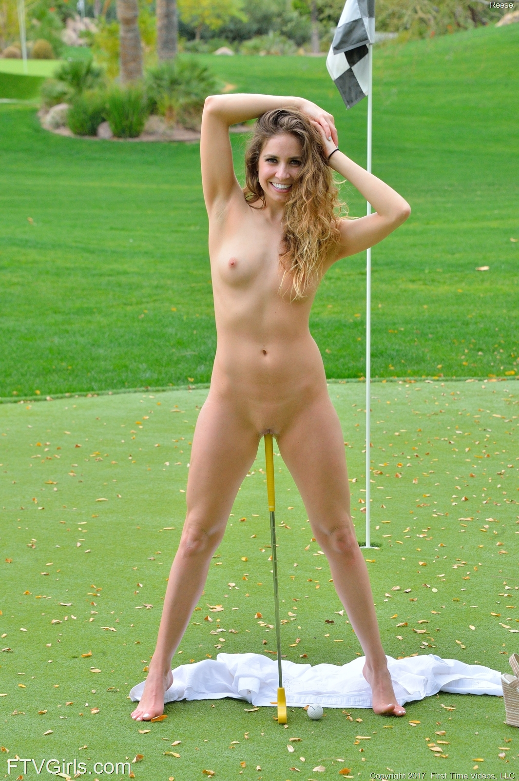 playing pantyless golf with par  3 #8