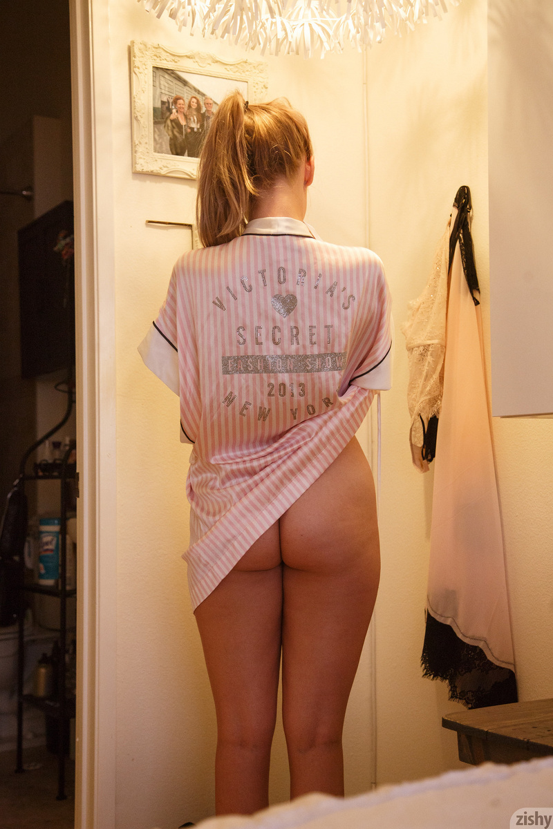 daddys sweetheart posing semi naked in the bathroom #8
