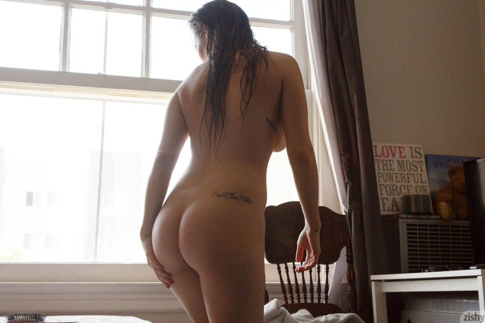 pissed off nerd doing some naked selfies inside her place #2