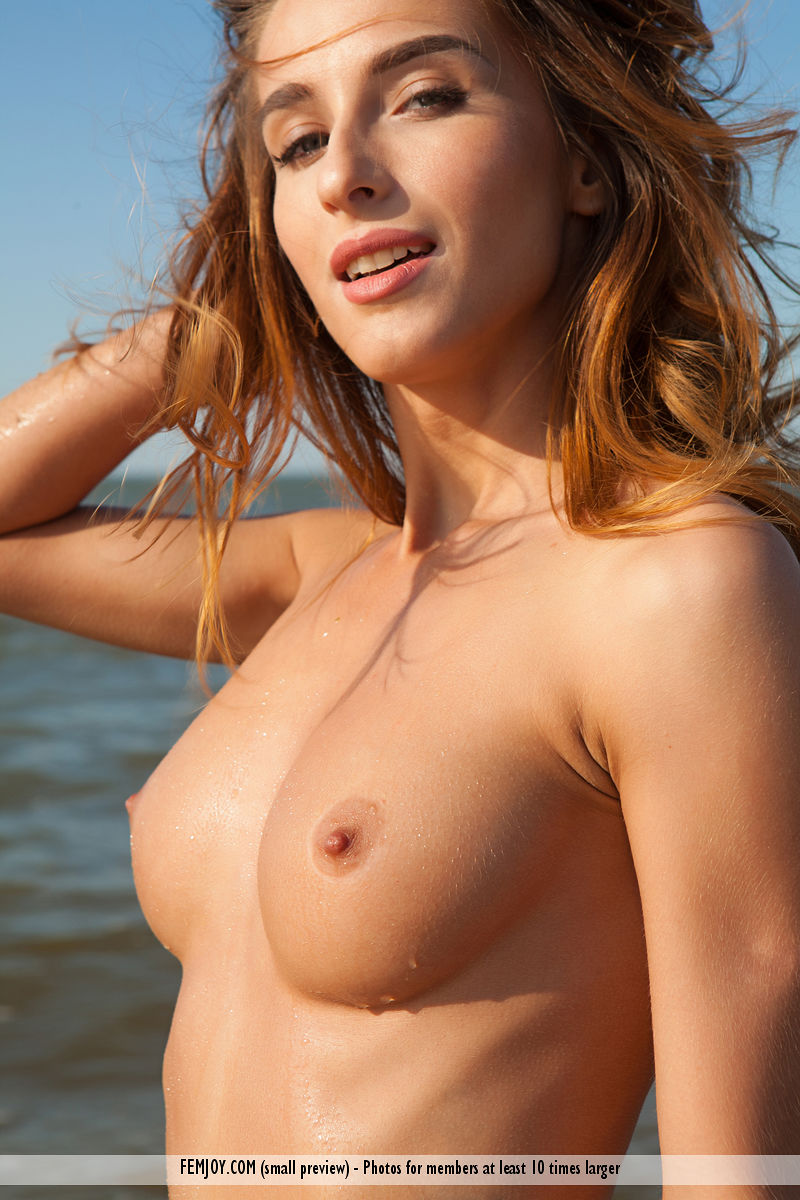 busty mermaid from femjoy enjoys a day off at the beach #11