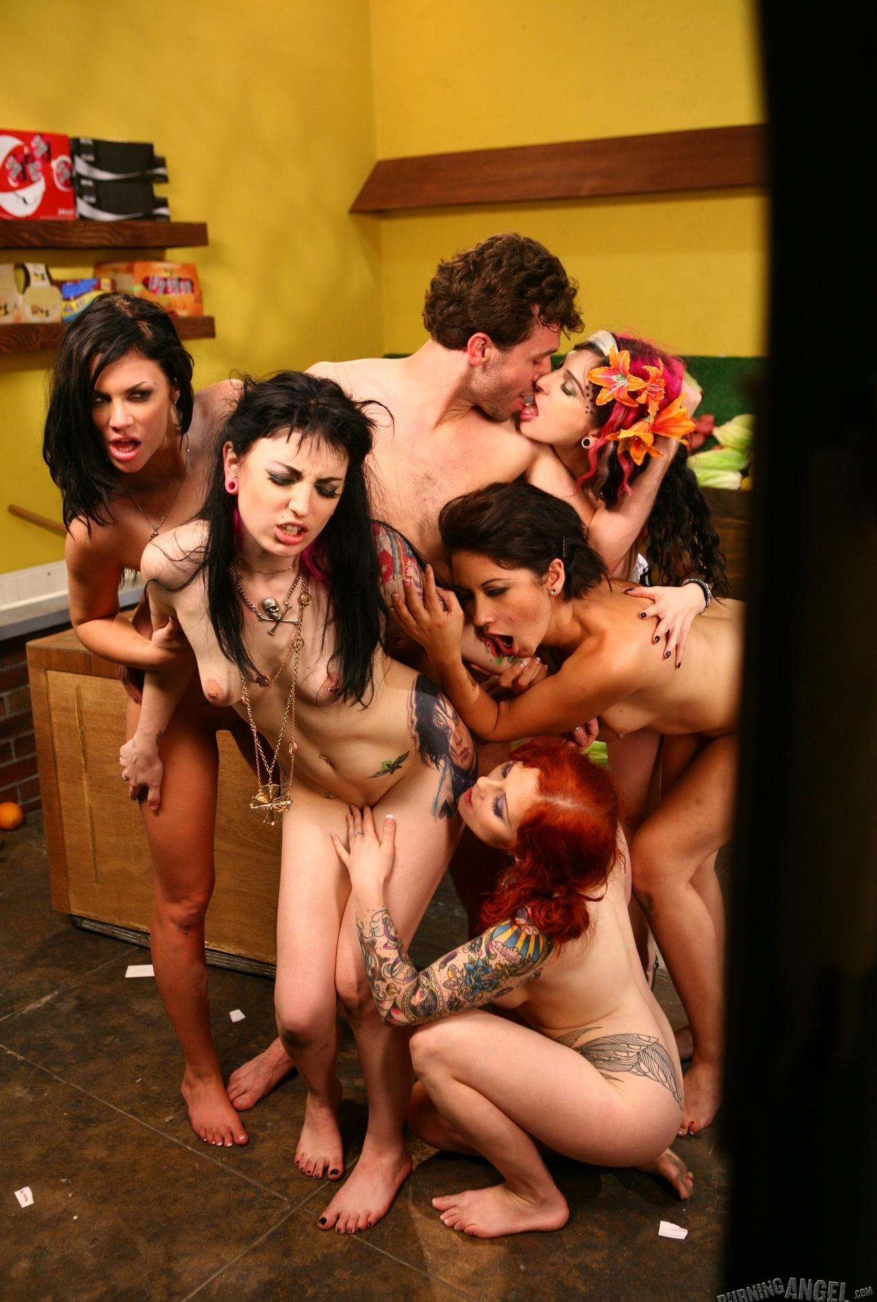 la pink orgy exclusive from burningangel