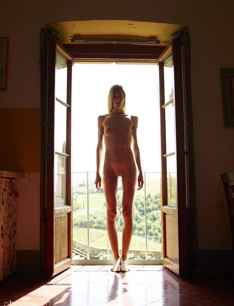 beautiful skinny model from hegre doing a freudian yoga therapy