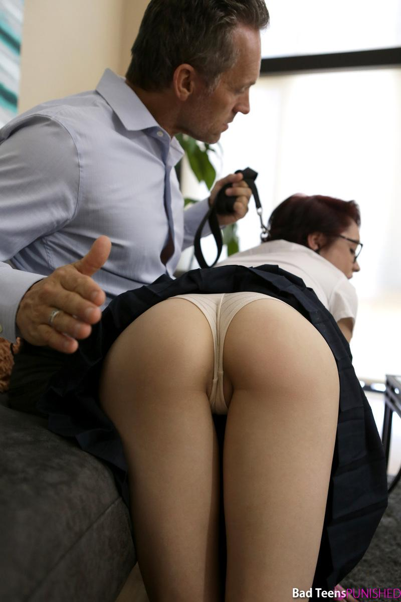 naughty geek ditching school gets punished by her schoolmaster #8