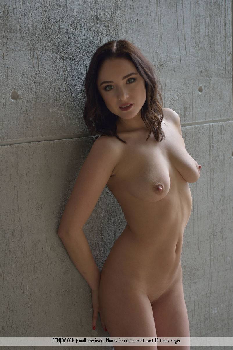 delicious busty cutie with an athletic figure posing in front of a casting wall #10