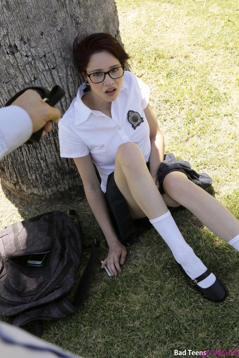 naughty geek ditching school gets punished by her schoolmaster #6