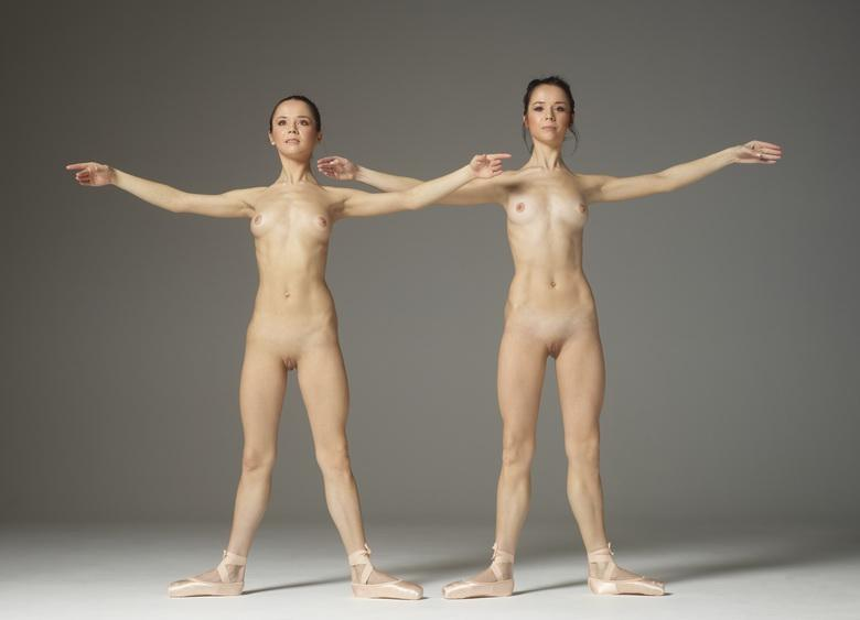 two skinny ballerina cuties from hegre doing some styleful poses