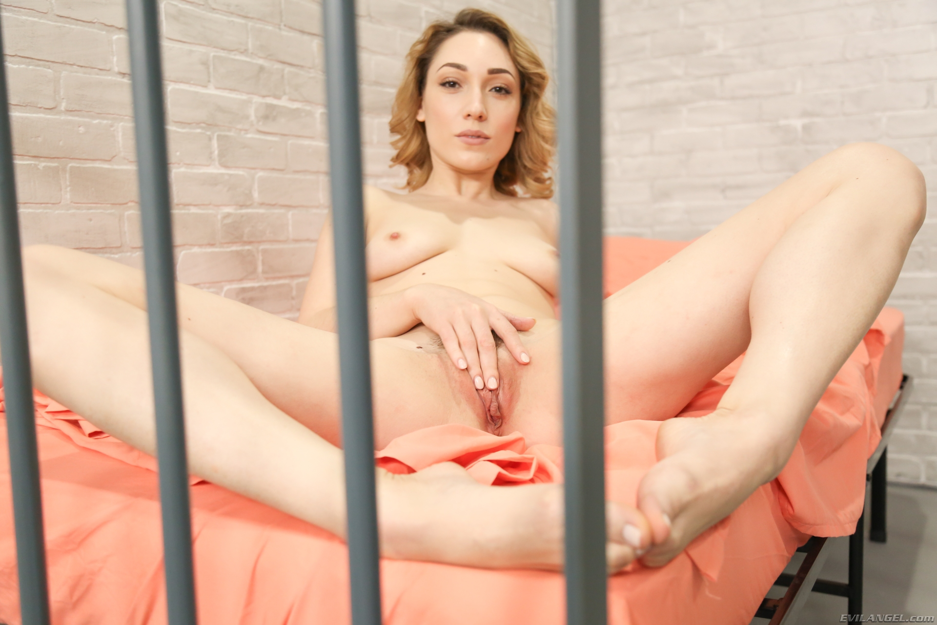 desperate caged in young wife gives sexy feetmassage  #2