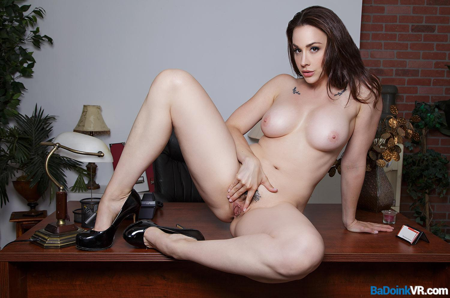 Chanel opens her legs wilde open for a great 180 VR Video Shooting picture 2