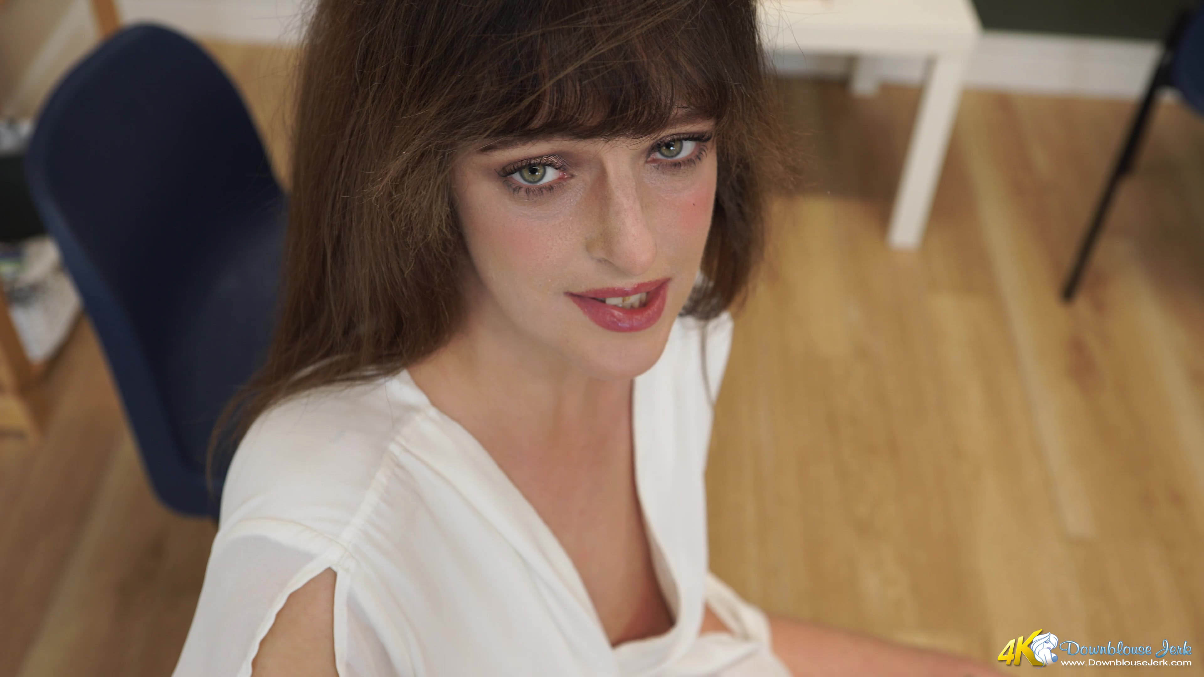lascive british beauty with superb downblouse peek for a second #3