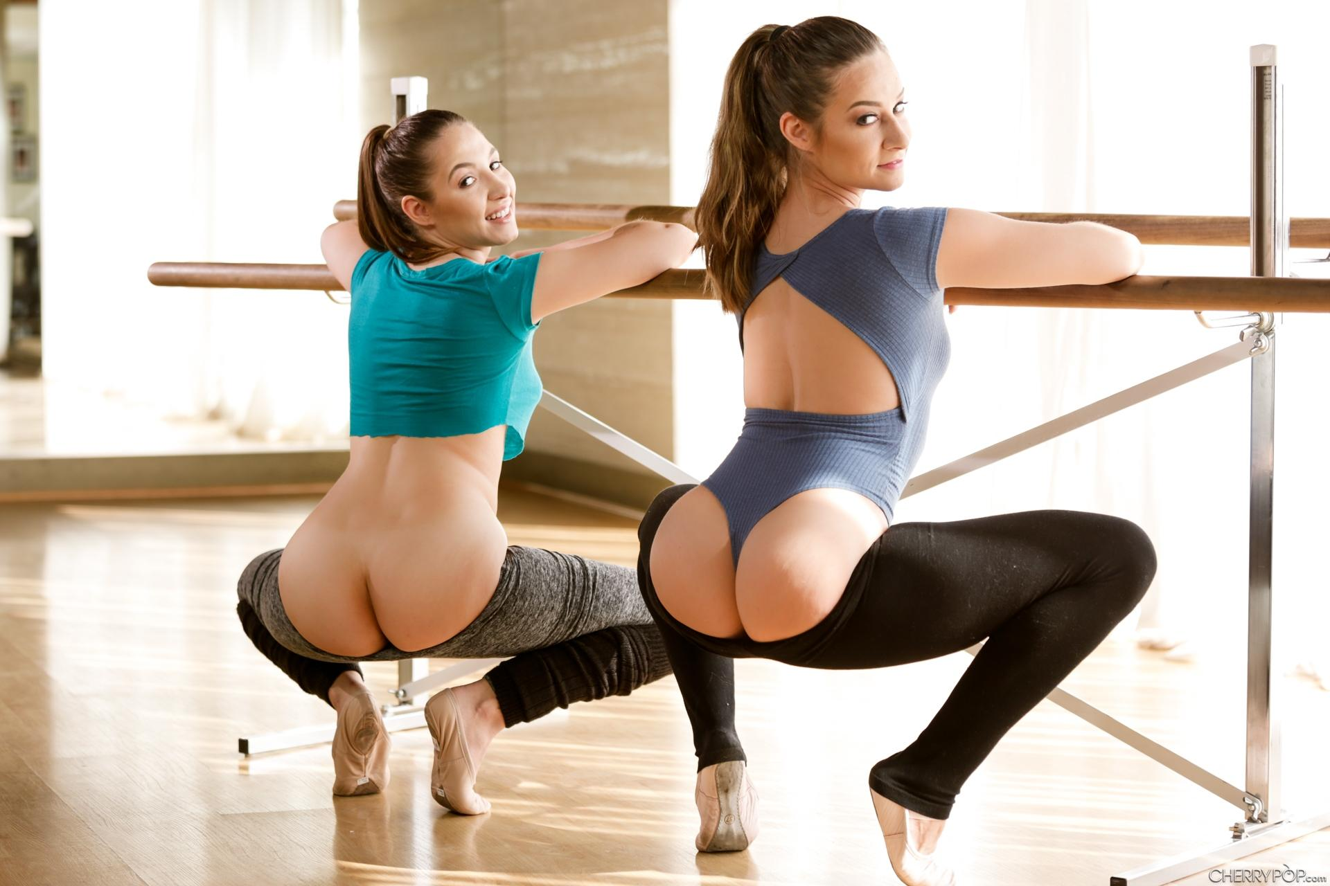 cherrypopping yoga cuties are getting down on a business guy #6