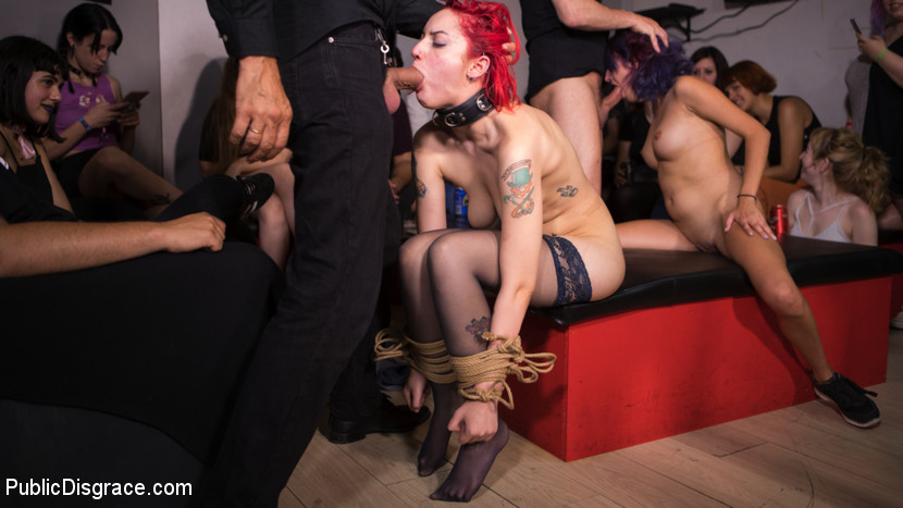 pettite redhad gets destructed by a bad bang of bisexuals #6