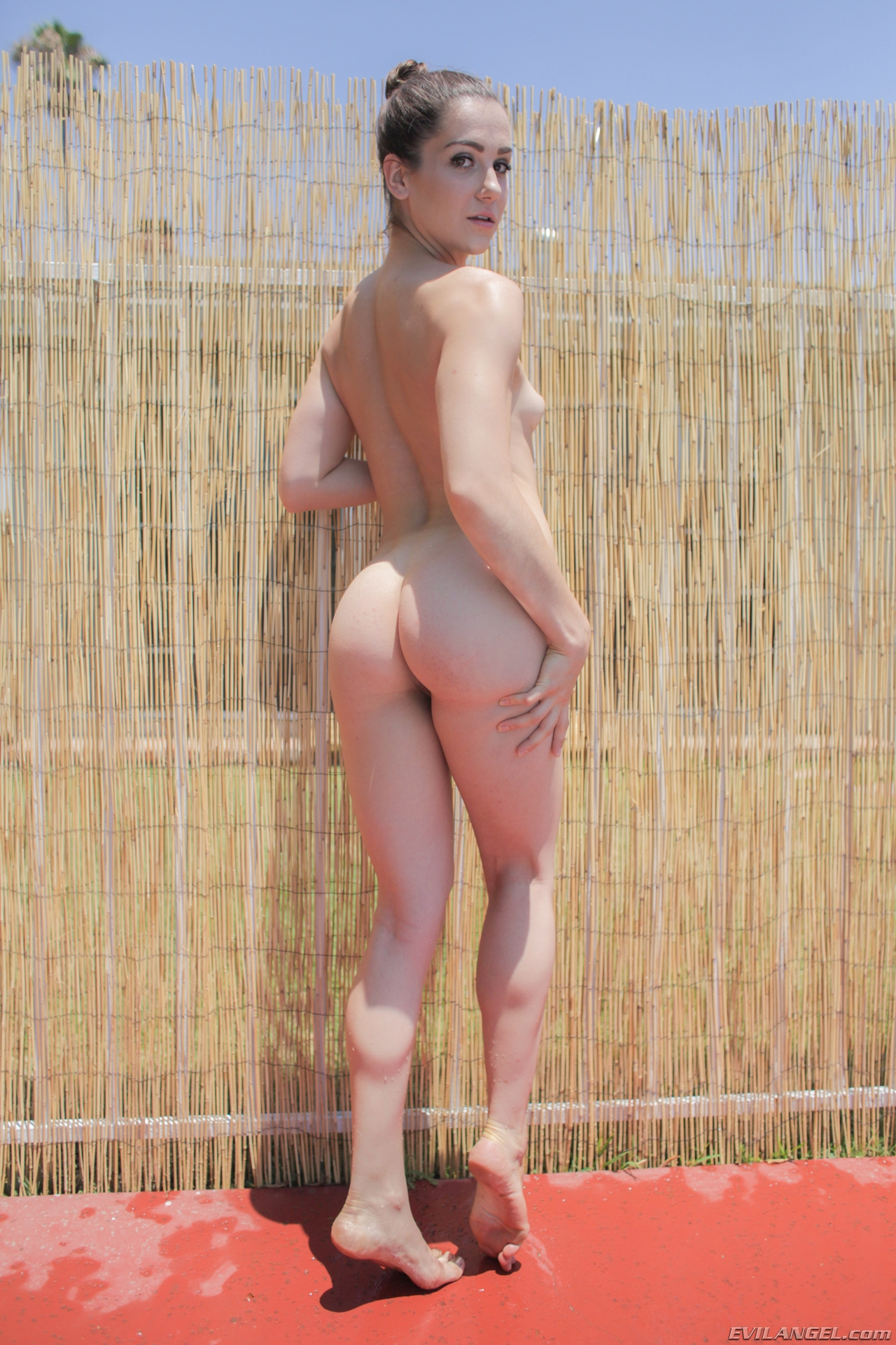 sweet hairy triangle attracts her bisexual girlfriend #6
