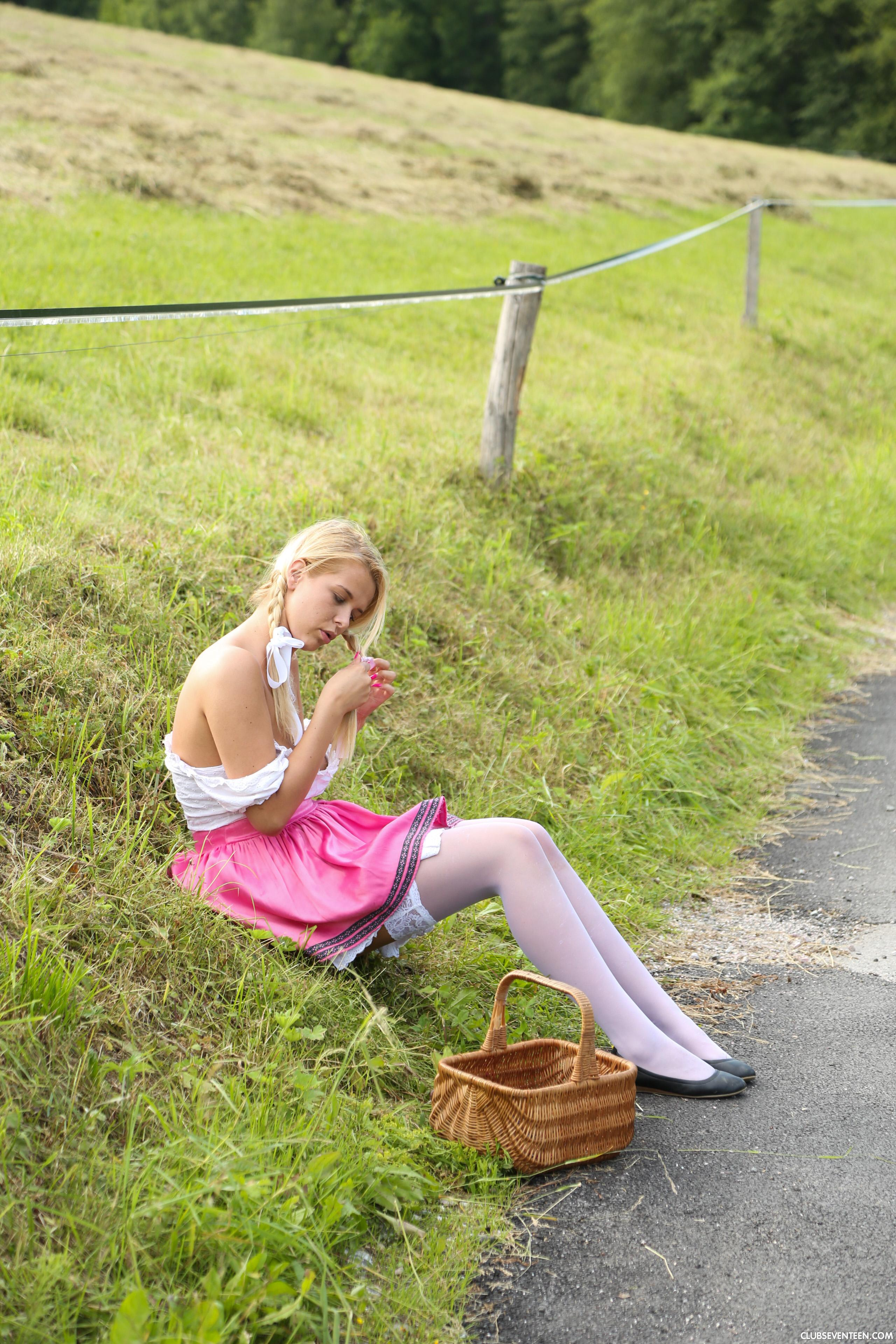 a german girl from bavaria enjoys fucking herself in nature #7