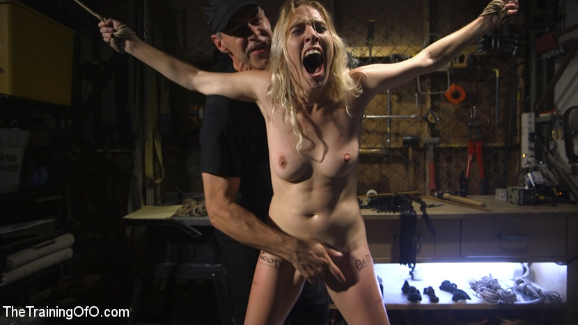 beautiful hairy next door chick gets brutally threaten by a freak #1