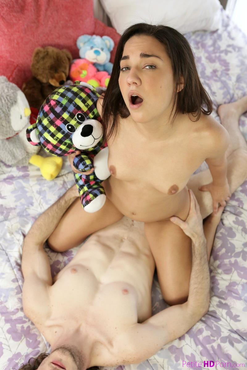 petite teen cutie gets a pyama inspection before going to sleep #12