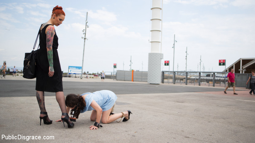 spanish cutie gets public dhumilated and penetrated  #7