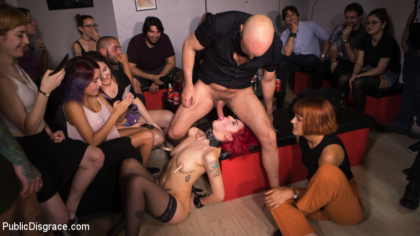 pettite redhad gets destructed by a bad bang of bisexuals #1