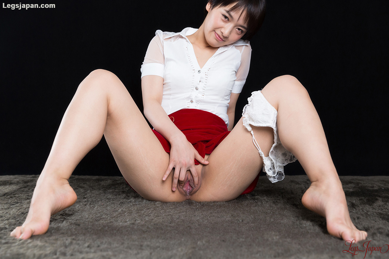 white panties tease and slow toewank with legsjapan model Ai Mukai #6