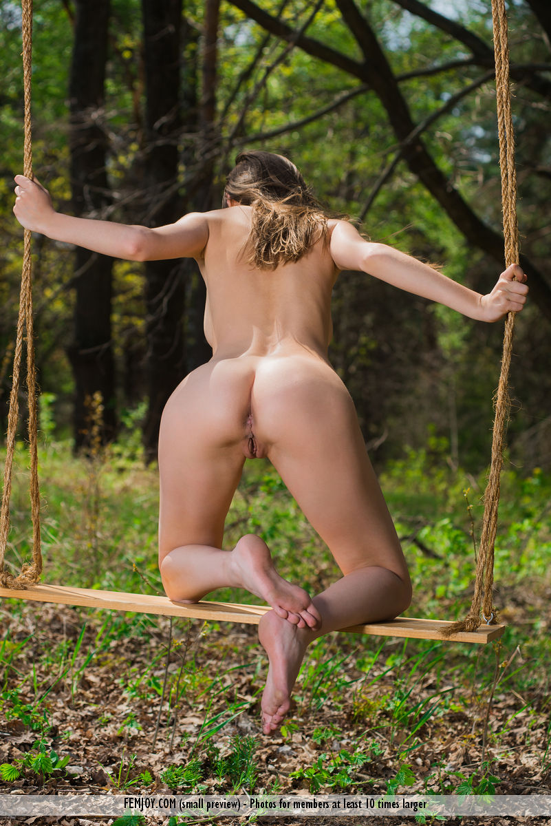 sweet outdoor labia exposure by russian brunette milla for femjoy #1