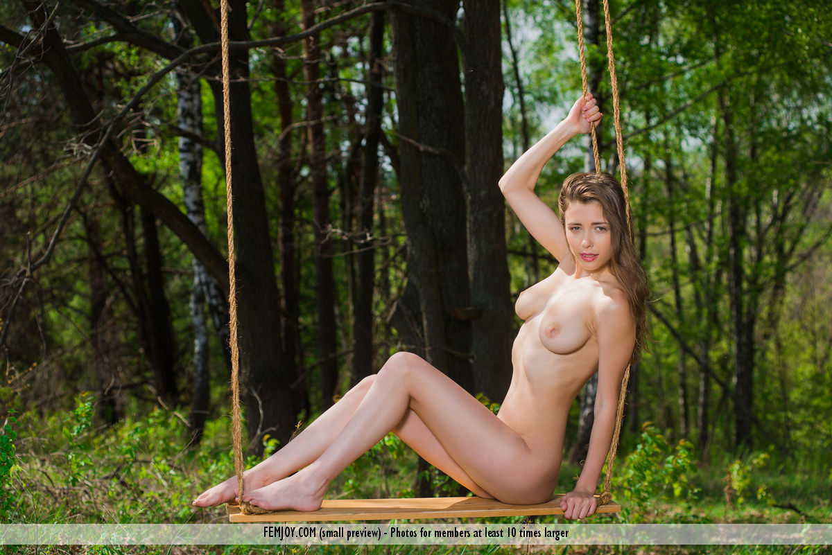 sweet outdoor labia exposure by russian brunette milla for femjoy #12