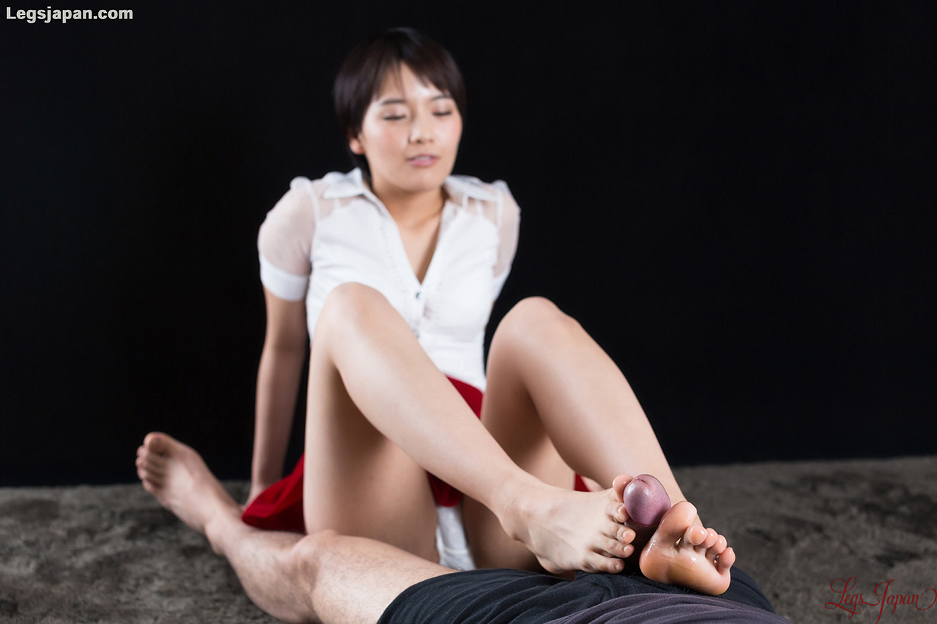 white panties tease and slow toewank with legsjapan model Ai Mukai #1