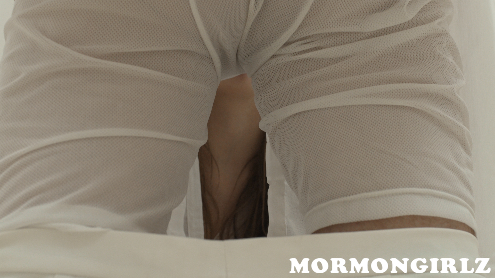 something strange is waiting behind the curtain for this virgin mormon sister #5