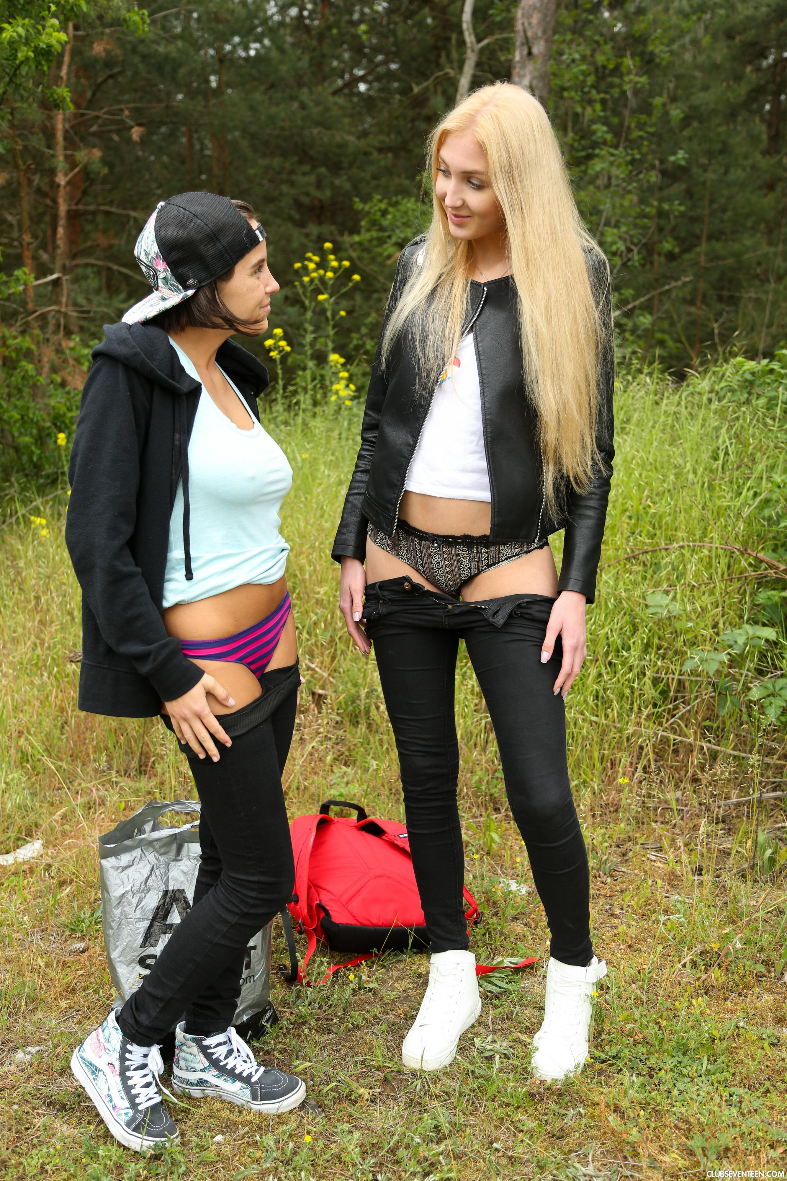 two european nature cuties wild climax outdoors #5