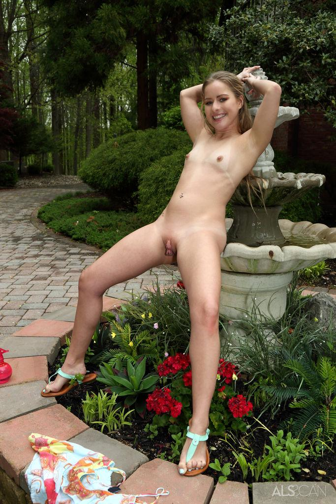 kinky russian blonde bending forward without panties #11