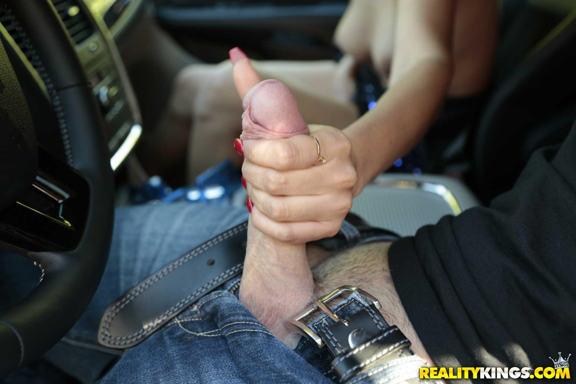 upskirt tease by busty latina brunette in the early afternoon #7