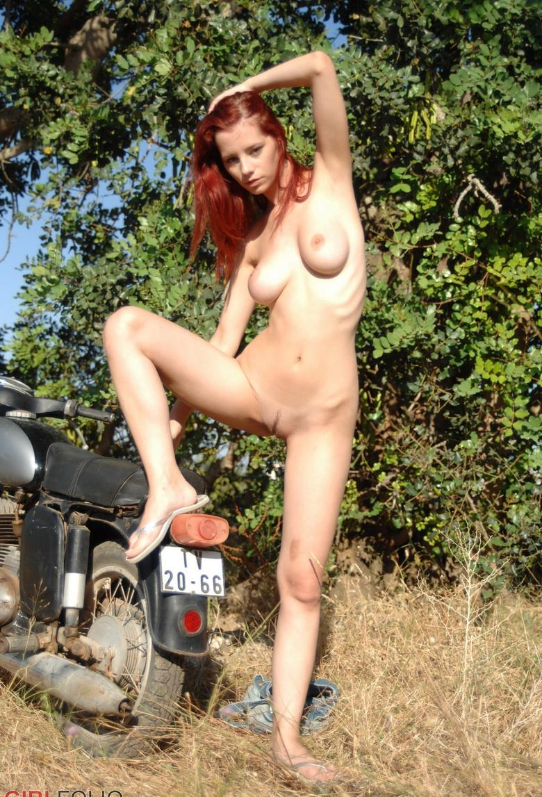 bycicle diaries by sweet redhead from girlfolio #5