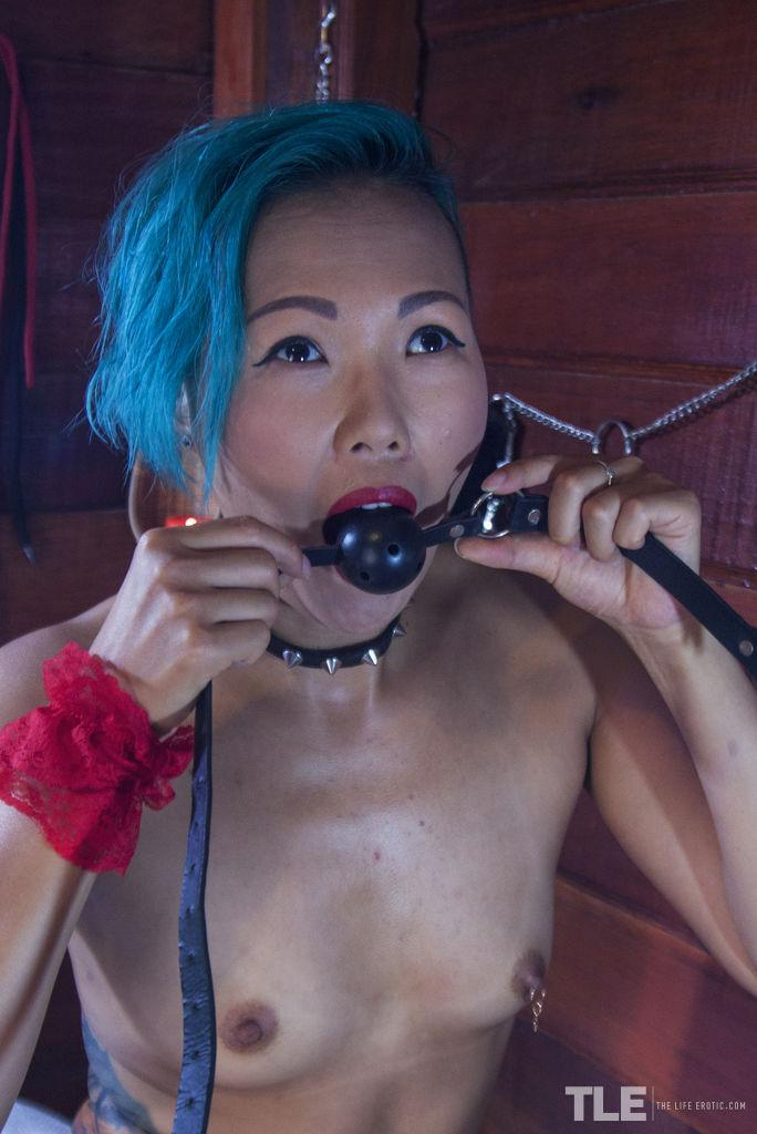 asian alt cutie with destroyed stockings #2